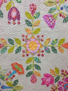 Sue's serendipity sampler, longarm quilting by Gina Beans Quilts