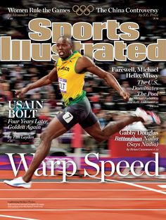 Sports Illustrated cover. Usain Bolt
