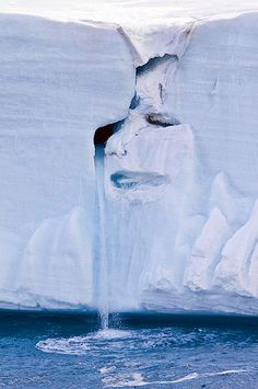 Mother Nature's face spotted in a glacier.