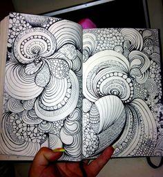 zentangl doodl, art
