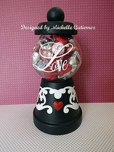 I loved creating this candy dispenser. I used my Cricut Expression and some vinyl to complete. Thanks for looking ♥ Michelle