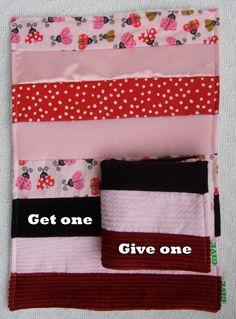 Baby Girl Sensory Security Blanket Lovey - ladybug lovelies - Get One, Give One to babies in Kenya, Africa, $30.00