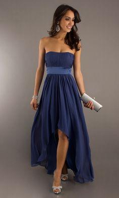 Strapless Hi Low Prom Dresses, Bridesmaid Dress - Simply Dresses
