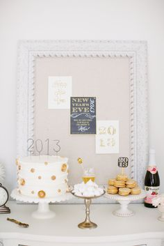 A New Years Eve inspired dessert table / Photography By / http://alealovely.com,Home And Decor By / http://julieblanner.com