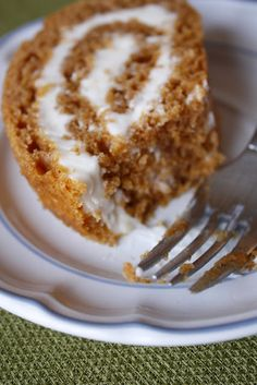 Pumpkin Roll, not so healthy but looks delicious