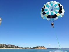 Parasailing off The Strand in Townsville #TownsvilleShines