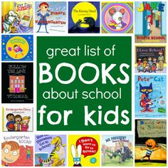 Books about school . Great way to prepare your kids as they transition to the school and preschool after the summer.