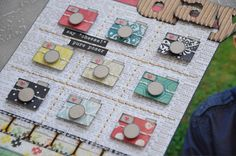 love THESE little paper pieced cameras!