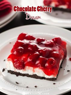 Chocolate Cherry Dream: THE recipe of the season that everyone is talking about! No-bake and super easy to make! #chocolate #cherries #dessert #nobake #recipe