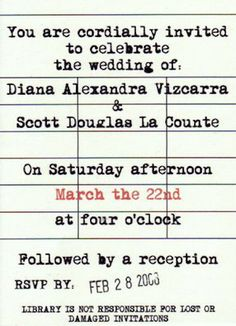 Book wedding invitation