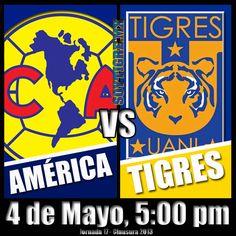 Tigres visita a las Águilas en la última jornada. ¡Vamos Tigres!