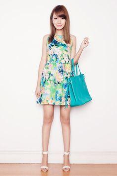 Love Van Gogh Fit And Flare Dress, Sugarfree Shoes Heels, Fab Avenue Bag