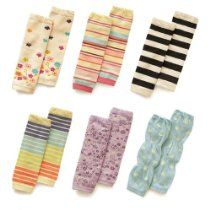 Cotton Leg Warmer for Baby Girls, 6 Pairs Cute Printed (Random Patterns)