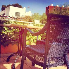 My seat! #lazing #relaxing #lunch #siesta #villa #veranda #chair #table #marble #wicker #sunshine #espana #spanishsun #mallorca #majorca #holiday #like #likes #follow #hashtag #palma #photooftheday #picoftheday #instapic #instaholiday #instagram - @stevierosan