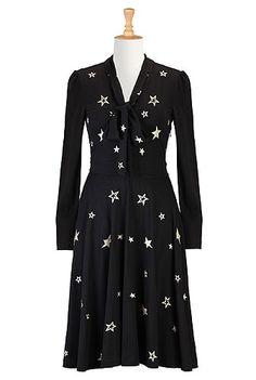 eShakti Starry nights knit dress