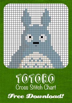 Totoro cross stitch chart