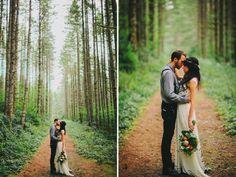 Inspire Wedding | Woods | Inspiration, forest, tree, woodland - nick and laura woods elopment