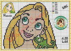 Rapunzel perler bead pattern by Carina Cassol -