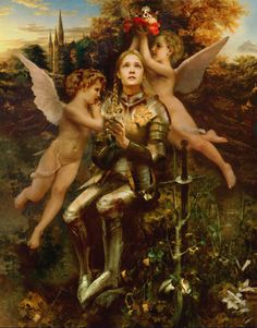 Joan of Arc (High Priestess, reversed) http://www.janetboyer.com/Tarot-in-Reverse.html