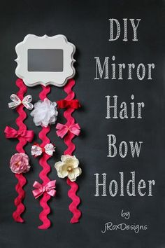 DIY Hair Accessories Holder: How to Make a Bow Holder