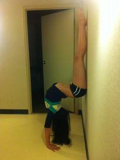 Gymnast, strength, grace, form,  from Cheerleading & Gymnastics: Off the Mat, Field & Floor board http://pinterest.com/kythoni/cheerleading-gymnastics-off-the-mat-field-floor/ m.8.38  #KyFun