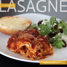 crockpot lasagne recipe - It's Always Autumn