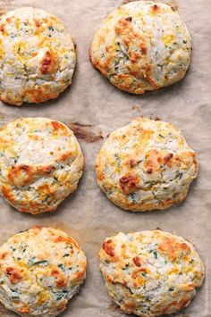 // Sour Cream Cheddar and Chives Biscuits