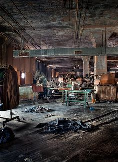 Abandoned Lebow Clothing Factory in Baltimore, MD, built in the 1930's.