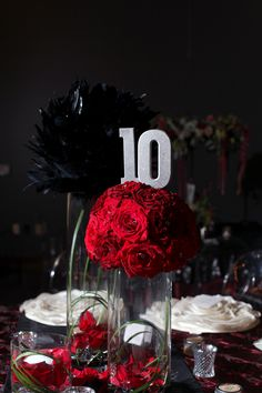 black and red wedding design