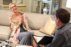 A fun moment during an interview with Randy Jones, prior to my Robb & Stucky charity event in Naples FL. #candiceolson #keithisaac  #highlandhousefurniture