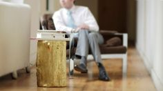 I will forever drool over this log stool. Gold or silver. (but be real, I'd buy gold.)
