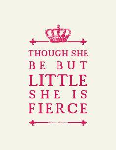 Shakespeare Quote : Girl's Room Nursery Art  // Unique Baby Gift. $16.00, via Etsy.