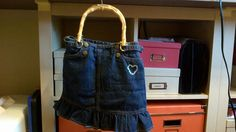 Jean skirt purse