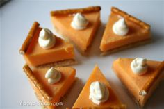 denna's ideas:  mini pumpkin pie cheese & cracker appetizers