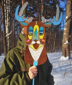 DIY Win­ter Wood­land Ani­mal Masks