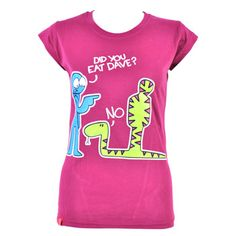Flip Flops And Fangs Dave Skinny Fit T Shirt (Purple)
