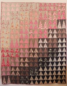 http://www.ginarockenwagner.com triangl quilt, craft, gina rockenwagner, tree, forest, comfi quilt, quilt color, colour gradat, quilti stuff