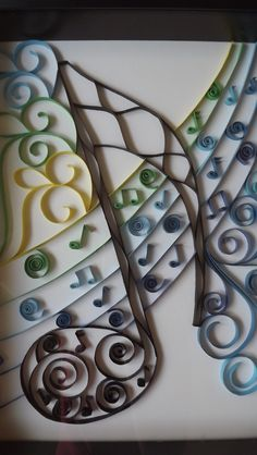 Musical Notes Quilled Art. $25.00, via Etsy.