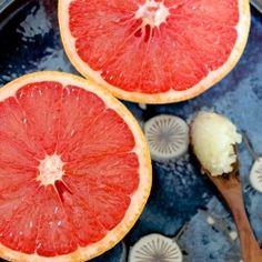 Broiled Grapefruit and Ginger Sugar