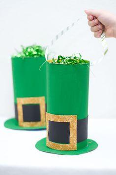 Cereal box leprechaun hat take-away