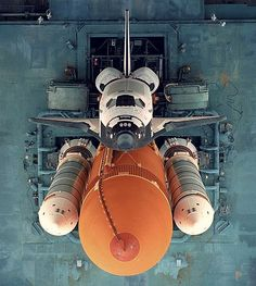 Space Shuttle on Launching Pad