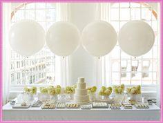 big balloon, parti tabl, balloon decorations