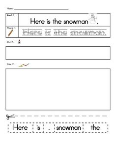 Sight Word Practice-Winter