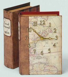 #DIY Clock Craft | Vintage Book Clock | Directions available at Joann.com | Supplies available at Jo-Ann Fabric and Craft Stores