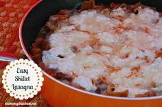 Mommy's Kitchen: Easy Skillet Lasagna {Perfect Easy Weeknight Meal}