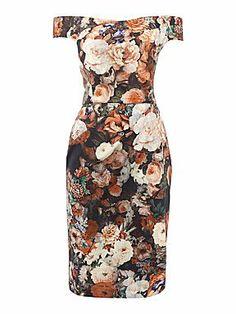 Untold Off the shoulder printed dress