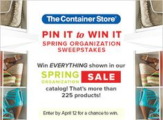 Pin it to Win it to win EVERYTHING shown in our Spring Organization Sale catalog! Click on the image to enter!