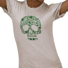 I am loving this St. Patrick's Day Skull T-shirt from artist jfarrel12 because it gives a rock & roll twist to the holiday.