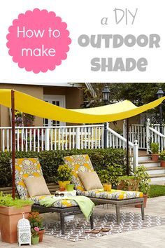 How to make a DIY simple outdoor shade for summer entertaining (easy and affordable!)