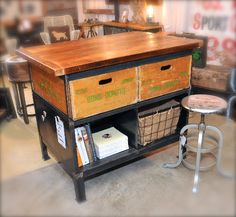 Unique items for sale madison mabel on pinterest industrial kit - Industrial kitchen island for sale ...